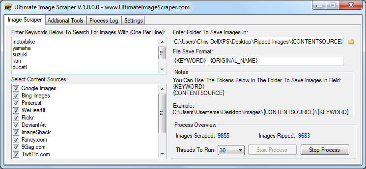 Ultimate Image Scraper Bot
